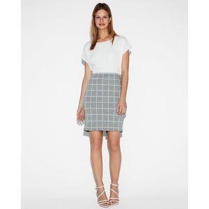 Express High Waisted Windowpane Clean Pencil Skirt